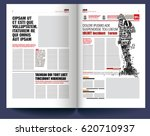 modern newspaper template  man... | Shutterstock .eps vector #620710937