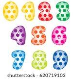 digits decorative | Shutterstock .eps vector #620719103