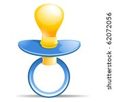 baby pacifier with blue handle | Shutterstock . vector #62072056