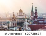 russia  moscow view from the... | Shutterstock . vector #620728637
