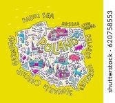 cartoon map of poland. hand... | Shutterstock .eps vector #620758553