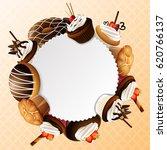 bakery sweet frame background | Shutterstock .eps vector #620766137