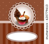 vintage background with cupcake | Shutterstock .eps vector #620779613