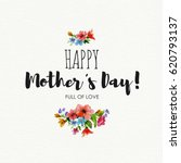 greeting card happy mother's...   Shutterstock . vector #620793137