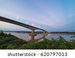 cloud and sky with long bridge. | Shutterstock . vector #620797013