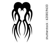 tattoo sketch tribal vector... | Shutterstock .eps vector #620819633