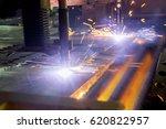 cnc plasma cutting | Shutterstock . vector #620822957