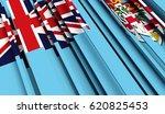 fragment flag of fiji. 3d... | Shutterstock . vector #620825453