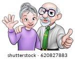 cartoon senior elderly...   Shutterstock . vector #620827883