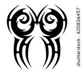 tattoo sketch tribal vector... | Shutterstock .eps vector #620836457