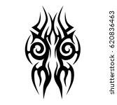 tattoo sketch tribal vector... | Shutterstock .eps vector #620836463