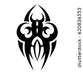 tattoo sketch tribal vector... | Shutterstock .eps vector #620836553