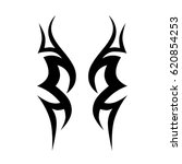 tribal tattoo art designs.... | Shutterstock .eps vector #620854253