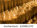 photograph of some lighted wax... | Shutterstock . vector #620881193