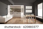 minimalist kitchen and living... | Shutterstock . vector #620883377