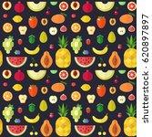 fruit flat style big vector... | Shutterstock .eps vector #620897897