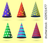 party hat set isolated .... | Shutterstock .eps vector #620921477