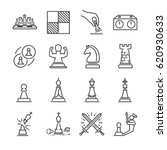 chess line icon set | Shutterstock .eps vector #620930633