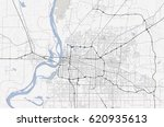 map memphis city. tennessee road | Shutterstock .eps vector #620935613
