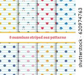 8 seamless patterns with... | Shutterstock .eps vector #620974763