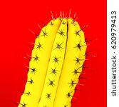 yellow cactus. creative design. ... | Shutterstock . vector #620979413