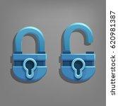cartoon locked and unlocked...