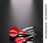 3d illustration of one target... | Shutterstock . vector #621006053