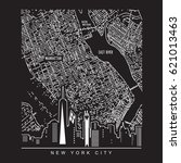 map new york city illustration  ... | Shutterstock .eps vector #621013463