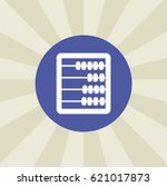abacus icon. sign design.... | Shutterstock .eps vector #621017873