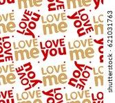 love pattern. abstract seamless ... | Shutterstock .eps vector #621031763