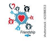 social relations conceptual... | Shutterstock .eps vector #621088313