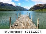 Wooden Pier On Rotoiti Lake  ...