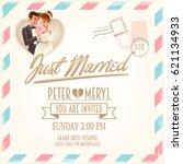 wedding card | Shutterstock .eps vector #621134933