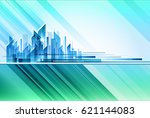 modern night city skyline | Shutterstock . vector #621144083