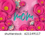 colorful flower with happy... | Shutterstock .eps vector #621149117
