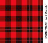 lumberjack plaid pattern. red... | Shutterstock .eps vector #621152837