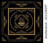vector vintage frame label for... | Shutterstock .eps vector #621158297