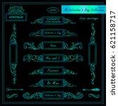 vector set of vintage banners ... | Shutterstock .eps vector #621158717