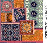 patchwork pattern. stylized... | Shutterstock . vector #621161477