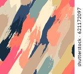 seamless oil painting vector... | Shutterstock .eps vector #621172097