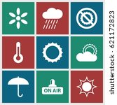 Climate Icons Set. Set Of 9...