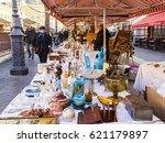 nice  france  on january 8 ... | Shutterstock . vector #621179897
