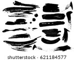 detail brush paint stroke... | Shutterstock .eps vector #621184577