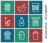 can icons set. set of 9 can... | Shutterstock .eps vector #621188687