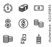income icons set. set of 9... | Shutterstock .eps vector #621193853