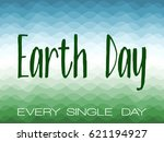 earth day cover layout vector... | Shutterstock .eps vector #621194927