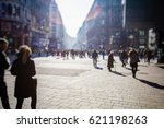 crowd of anonymous people... | Shutterstock . vector #621198263