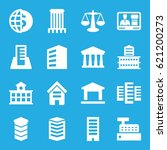 government icons set. set of 16 ... | Shutterstock .eps vector #621200273
