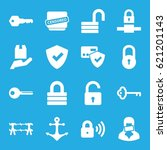 secure icons set. set of 16... | Shutterstock .eps vector #621201143
