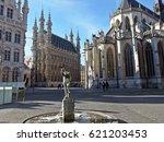 Fonske fountain, Grote Markt, Leuven, Belgium